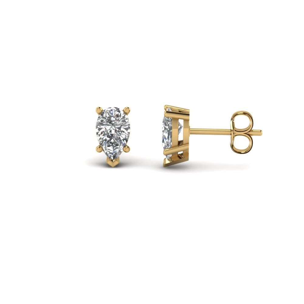 0.75 Carat Pear Diamond Earring