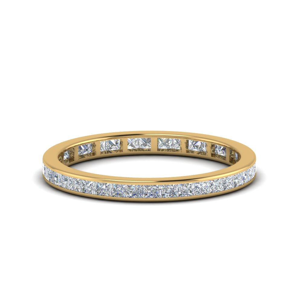 0.75 carat princess diamond eternity band in 14K yellow gold FDEWB8384 0.75CTB NL YG