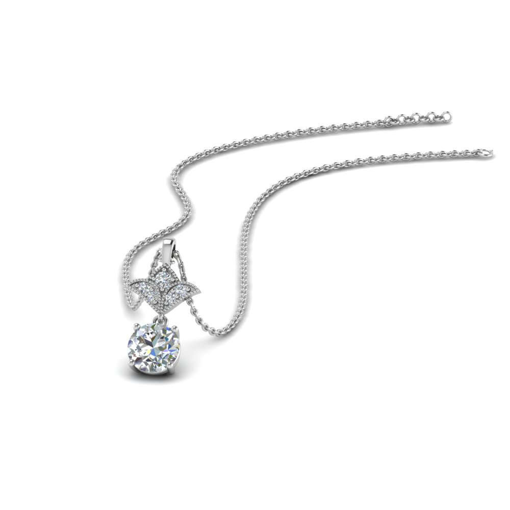 Round Diamond Antique Pendant