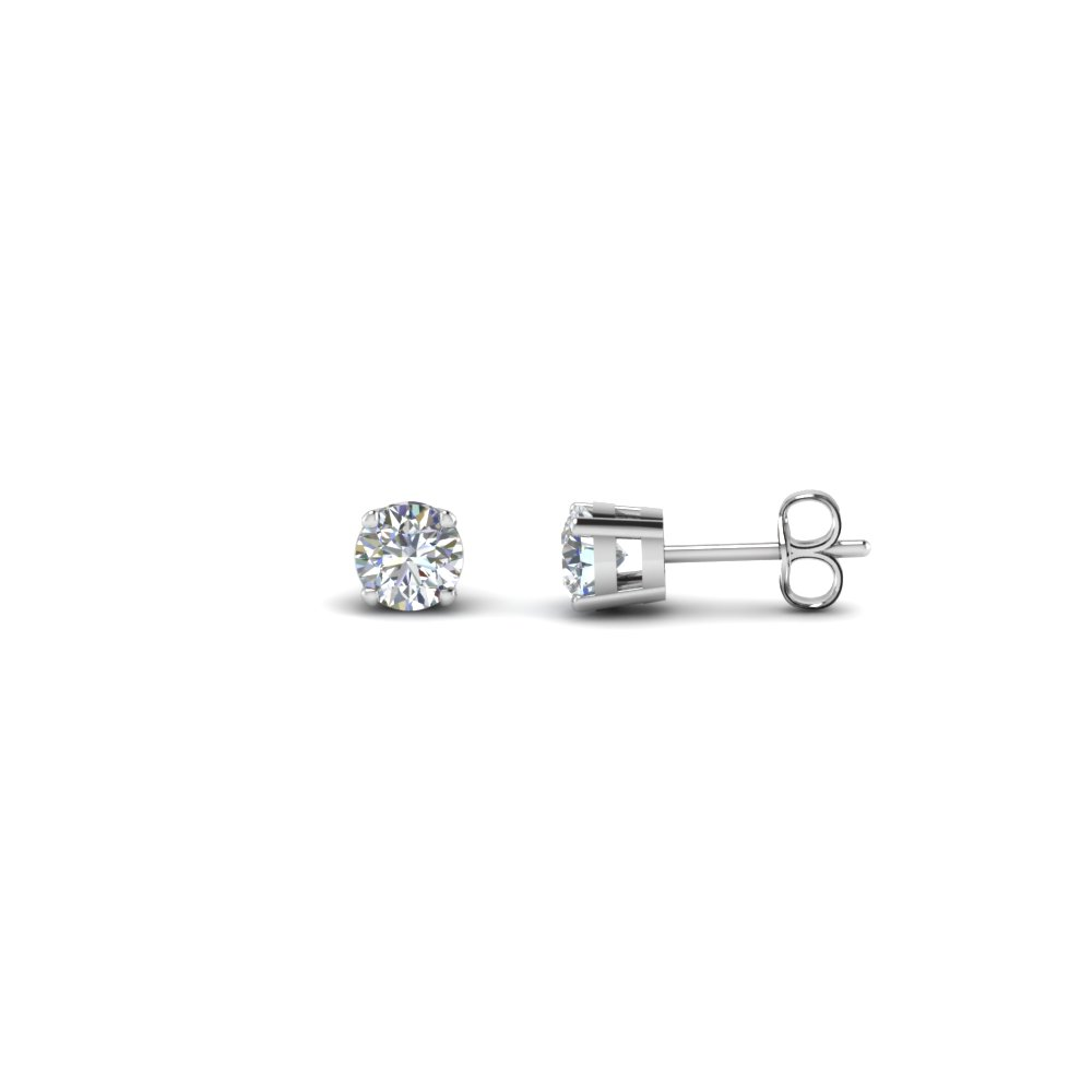 0.75 carat round diamond earring in FDEAR4RO0.37CT NL WG