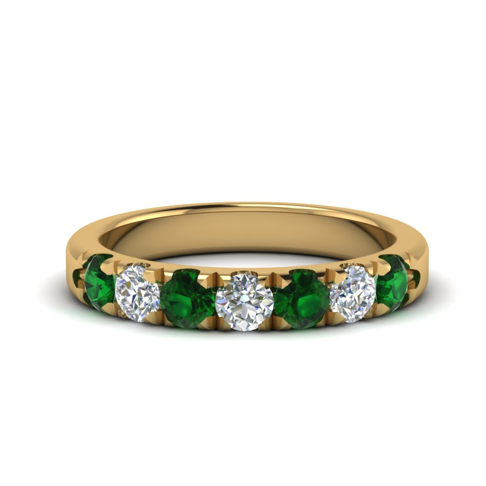 0.75-ct.-diamond-7-stone-anniversary-ring-with-emerald-in-FD123881RO(3.00MM)GEMGR-NL-YG
