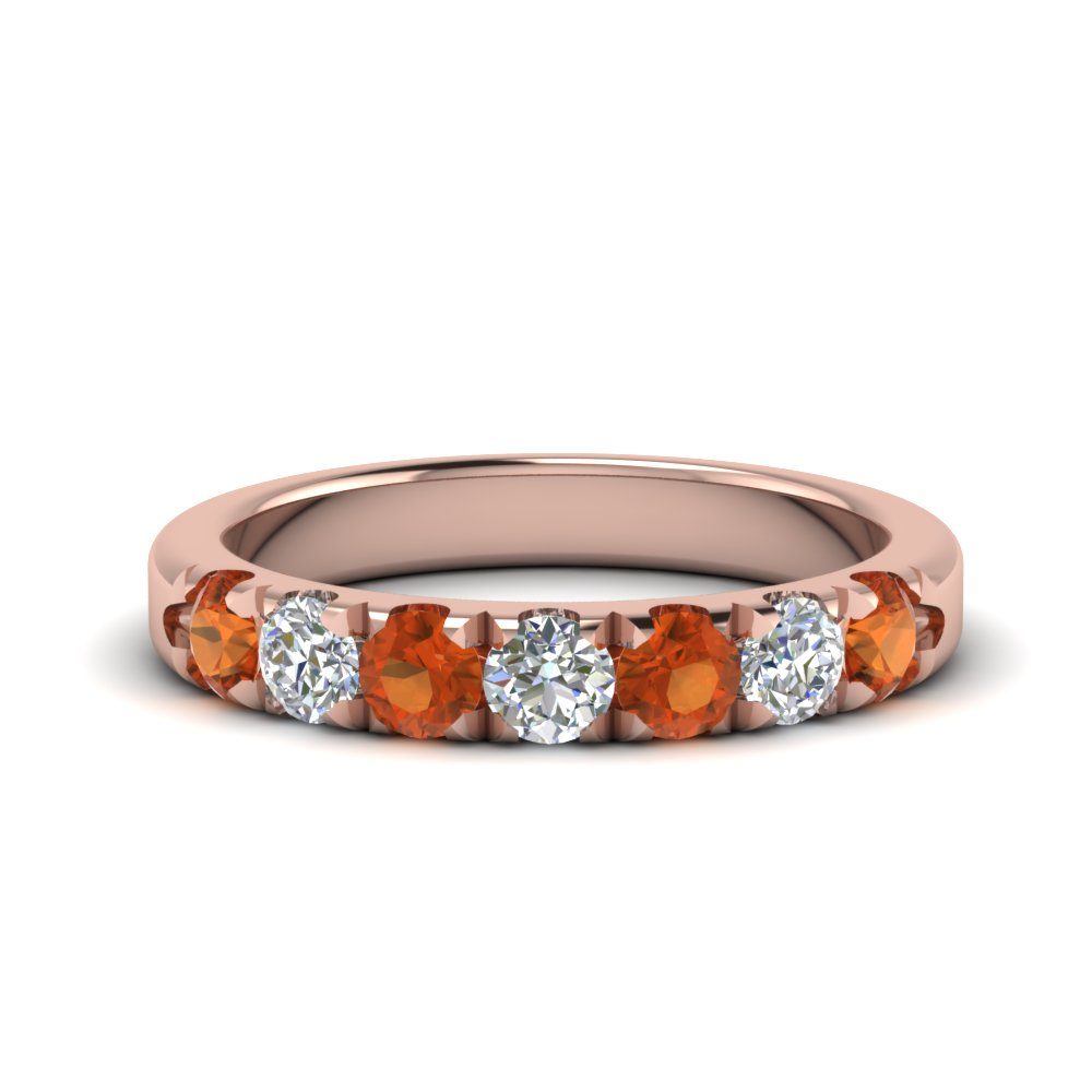 0.75-ct.-diamond-7-stone-anniversary-ring-with-orange-sapphire-in-FD123881RO(3.00MM)GSAOR-NL-RG