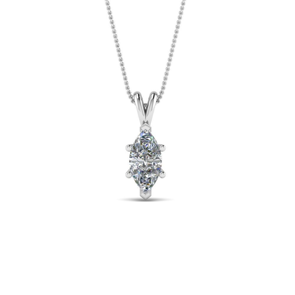0.75 ct. marquise diamond pendant in 14K white gold FDPD8469MQ 0.75CTANGLE2 NL WG