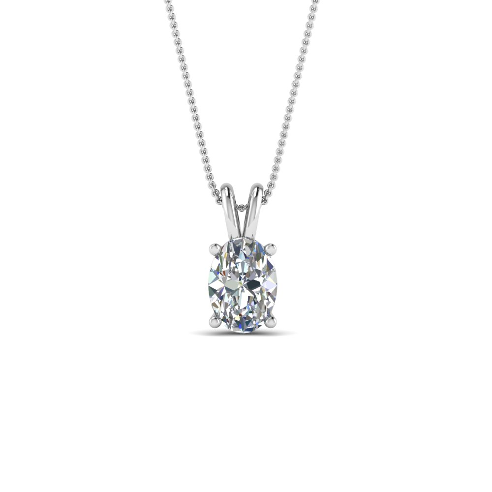 Buy solitaire diamond pendants necklace online fascinating diamonds 075 ct oval diamond pendant in fdpd8469ov075ctangle2 nl wg aloadofball