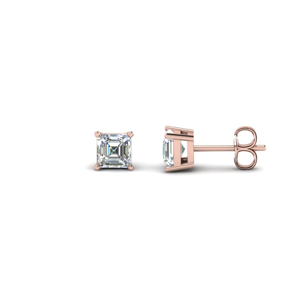 0.75 ct. asscher single stud earring in FDEAR4AS0.37CT NL RG