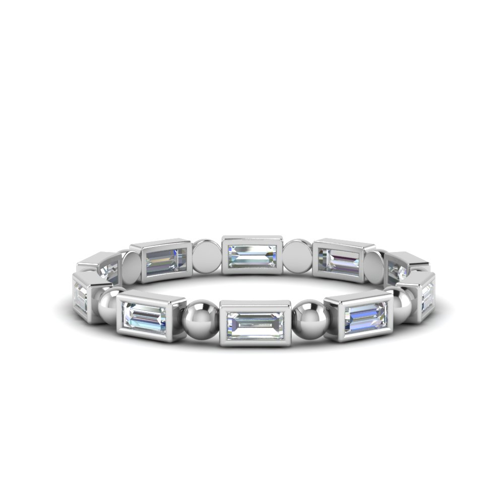 0.75 Ct. Baguette Bead Eternity Band