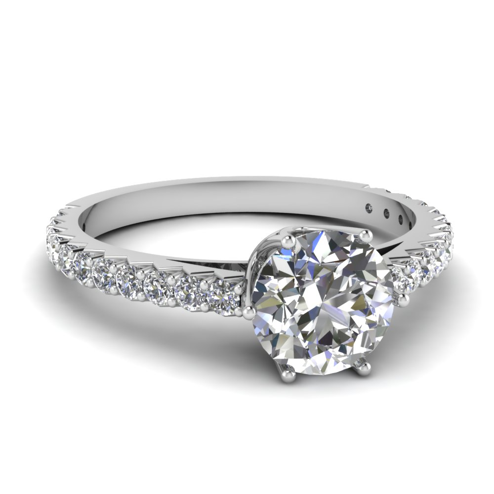 0.75 Ct. Shared Prong Engagement Ring