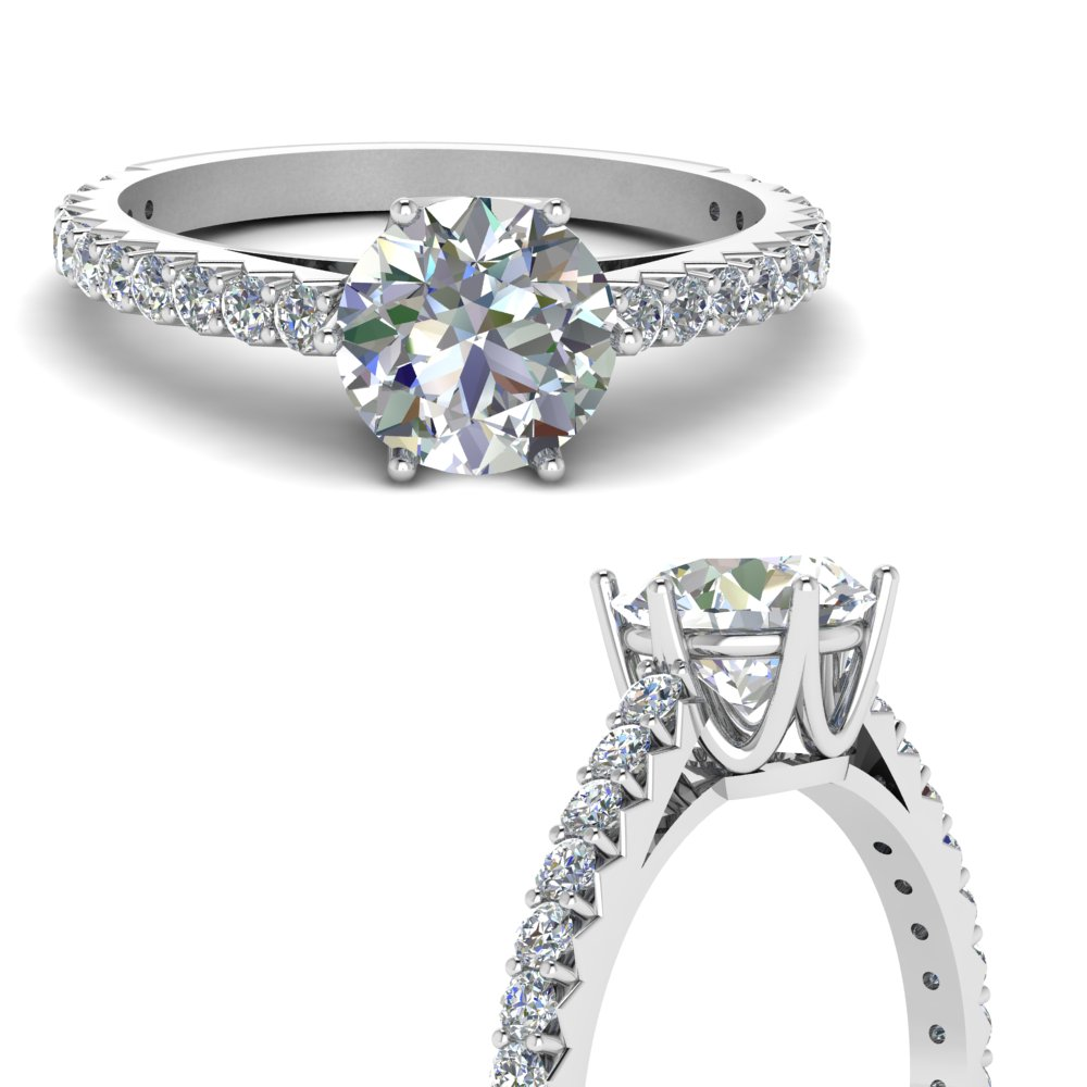 0.75 ct. diamond crown engagement ring in FDENR9176RORANGLE3 NL WG