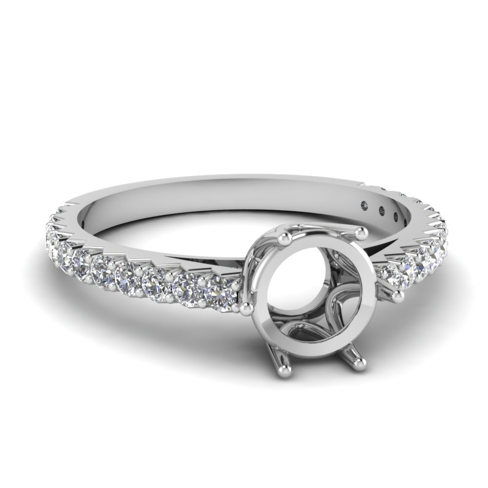 Semi Mount Crown Engagement Ring