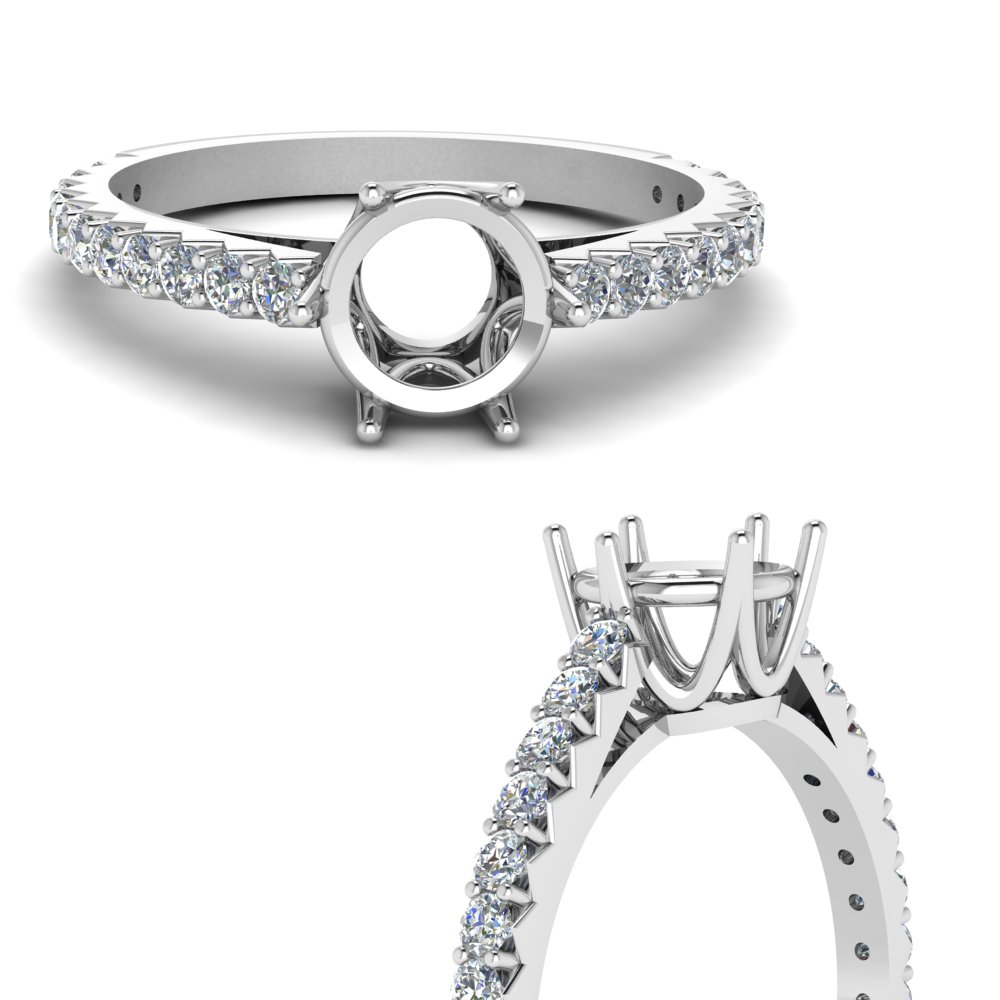 0.75 ct. diamond crown semi mount engagement ring in FDENR9176SMRANGLE3 NL WG.jpg