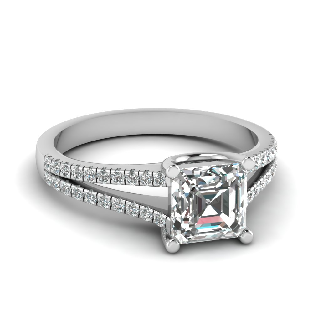 0.75 ct. diamond delicate split shank asscher cut engagement ring in FDENS1748ASR NL WG.jpg