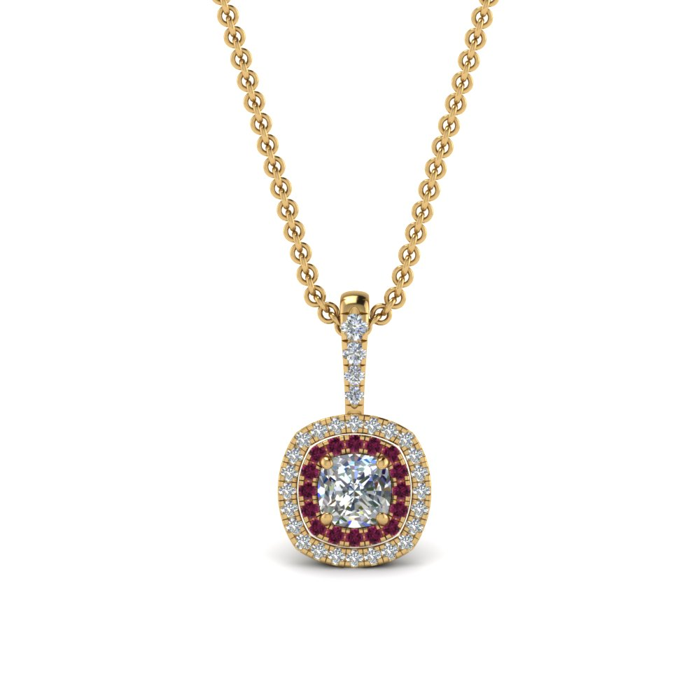 0.75-ct.-cushion-diamond-halo-necklace-pendant-with-pink-sapphire-in-FDPD86826CU(5.0X5.0MM)GSADRPIANGLE1-NL-YG