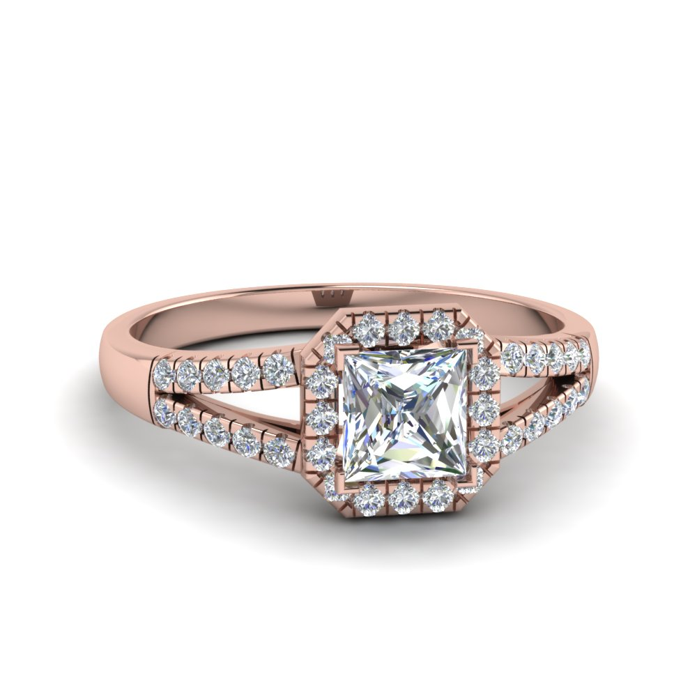 0.75 Ct. Diamond Square Halo Ring