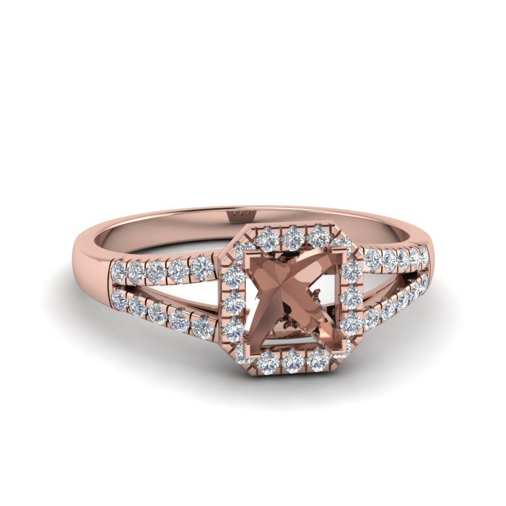 Semi Mount Split Shank Ring 14k Rose Gold
