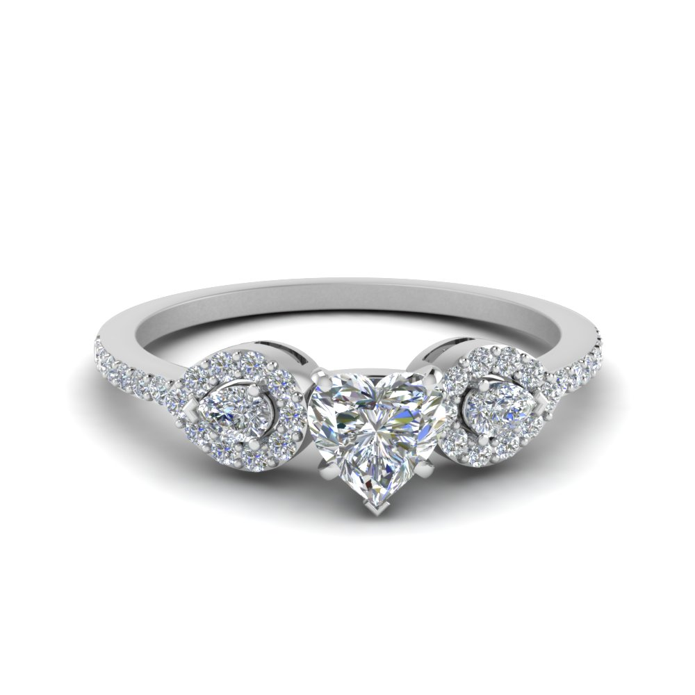 Petite Heart Diamond Rings