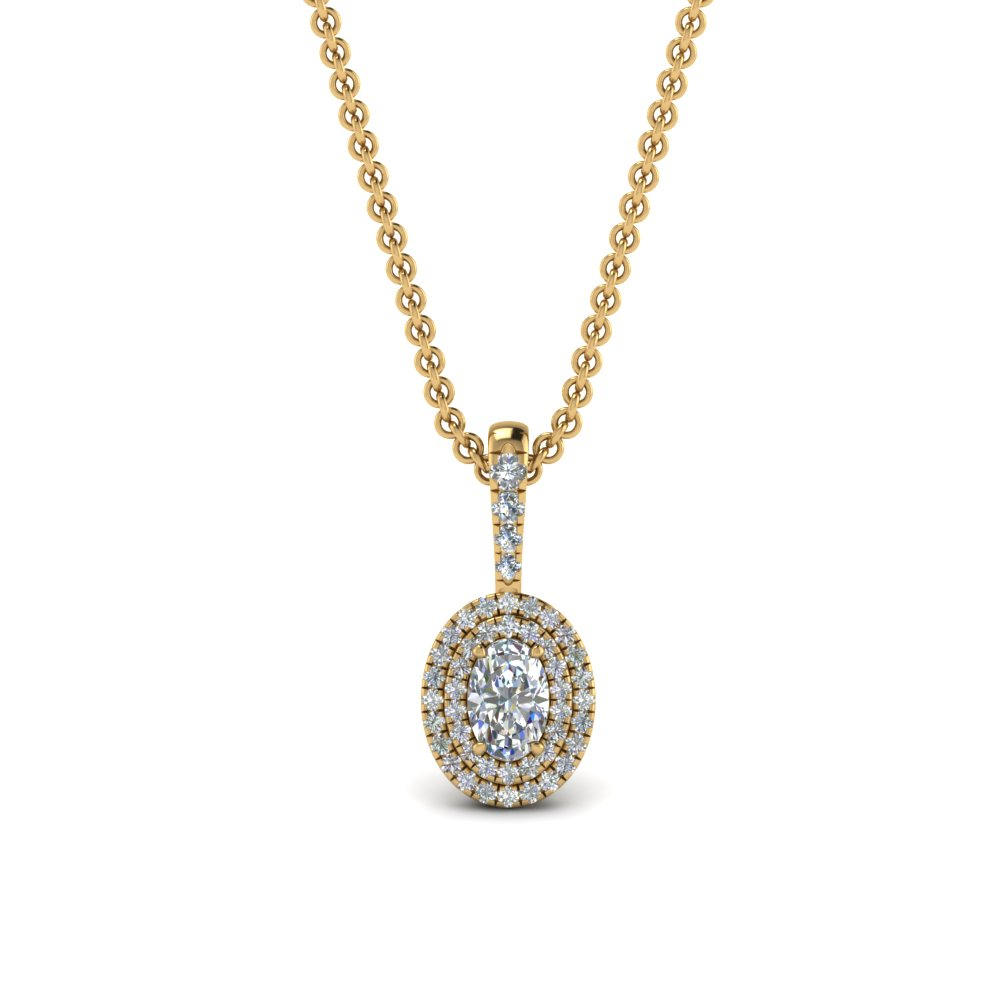 3/4 Carat Diamond Halo Pendant