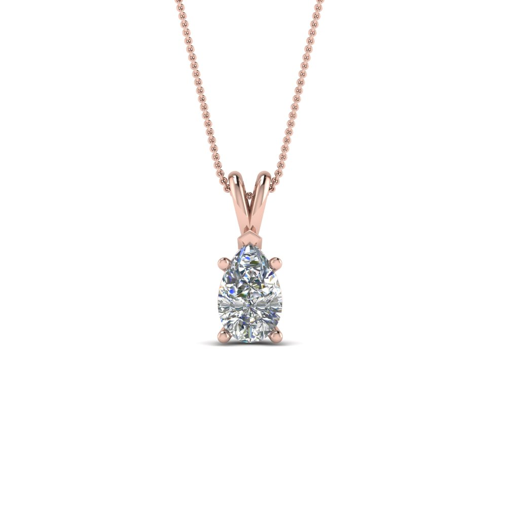 0.75 Ct. Pear Diamond Necklace