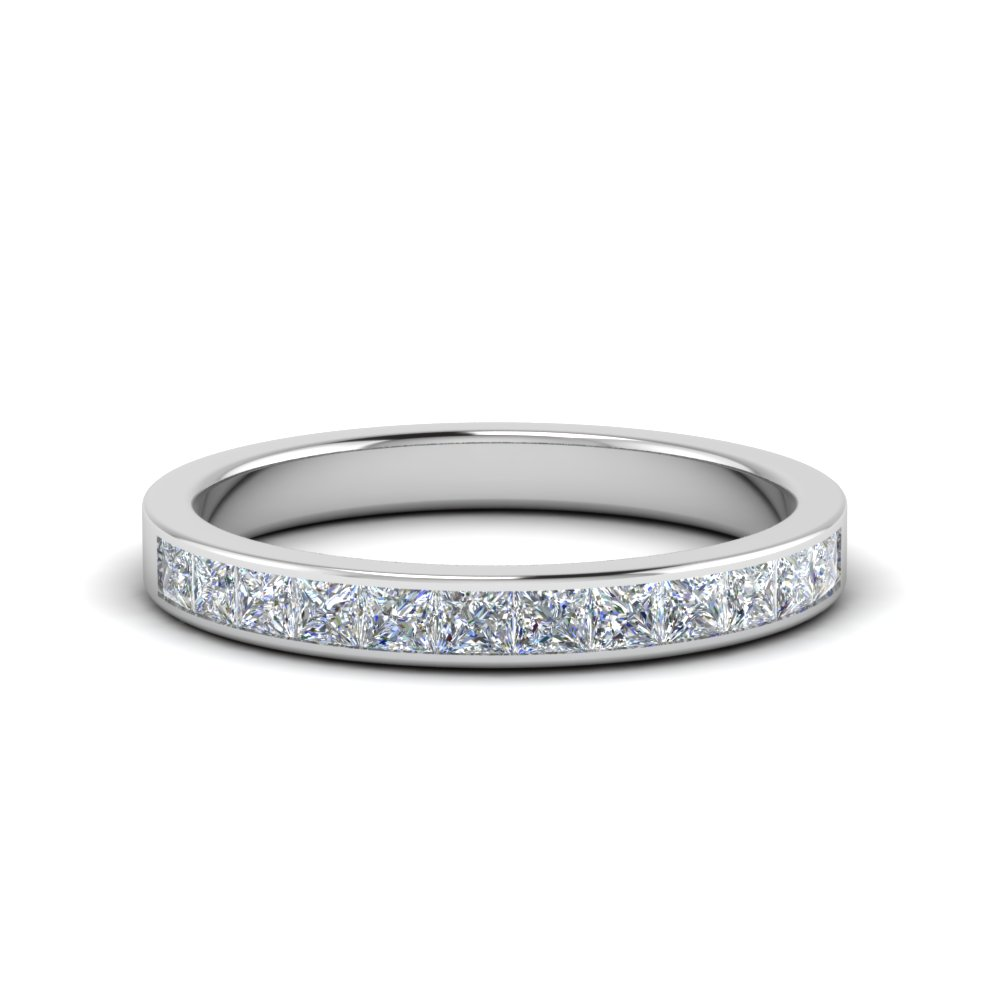Channel Wedding Band 0.75 Carat