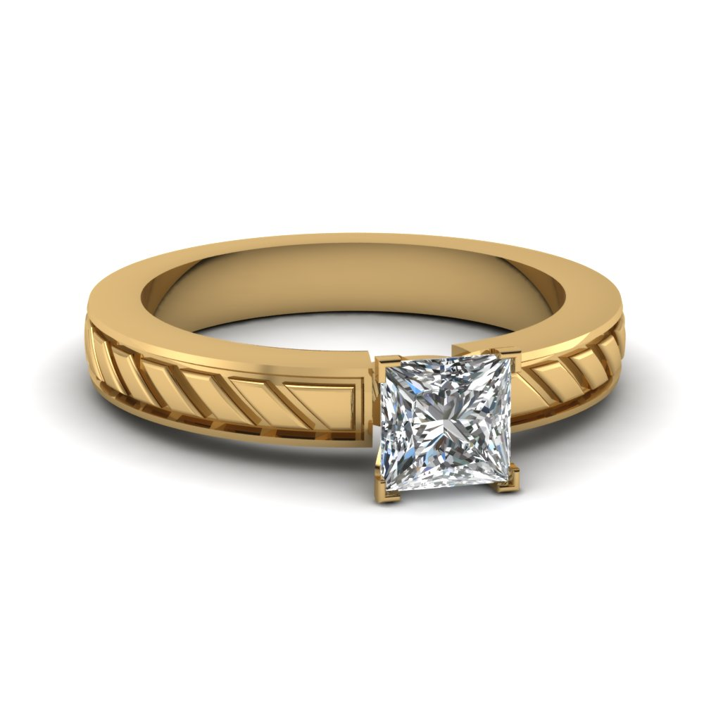 3/4 Carat Square Cut Diamond Rings