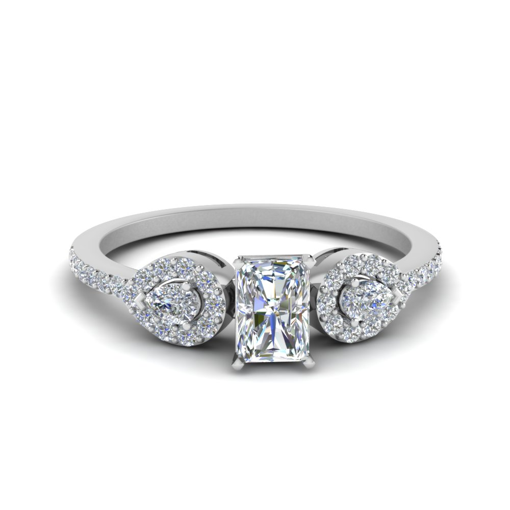 0.75 ct. radiant diamond petite 3 stone engagement ring in FDENS3109RAR NL WG.jpg