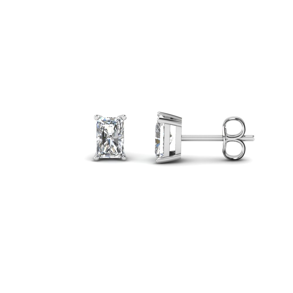 0.75 Ctw. Radiant Single Stud Earring