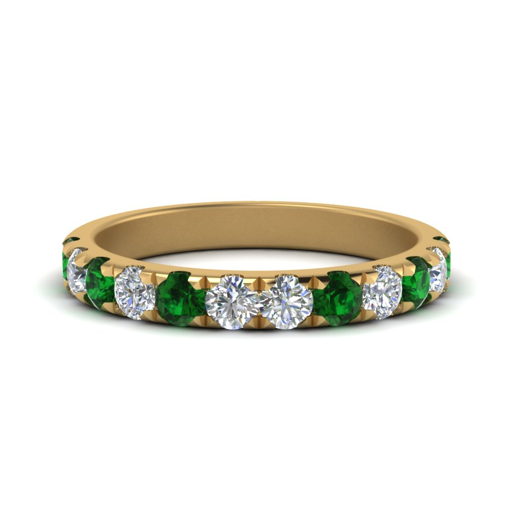 Diamond Band With Emerald For Her