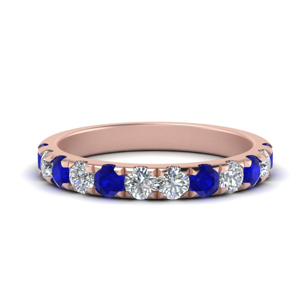Sapphire Engagement Band For Her