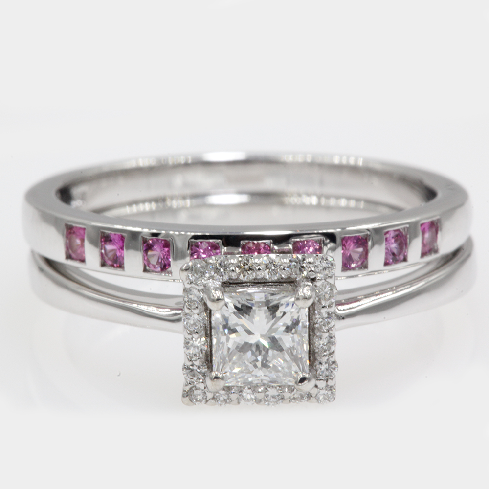 0.75-diamond-square-halo-bridal-ring-set-with-pink-sapphire-in-FD8087PRGSAPI-NL-WG