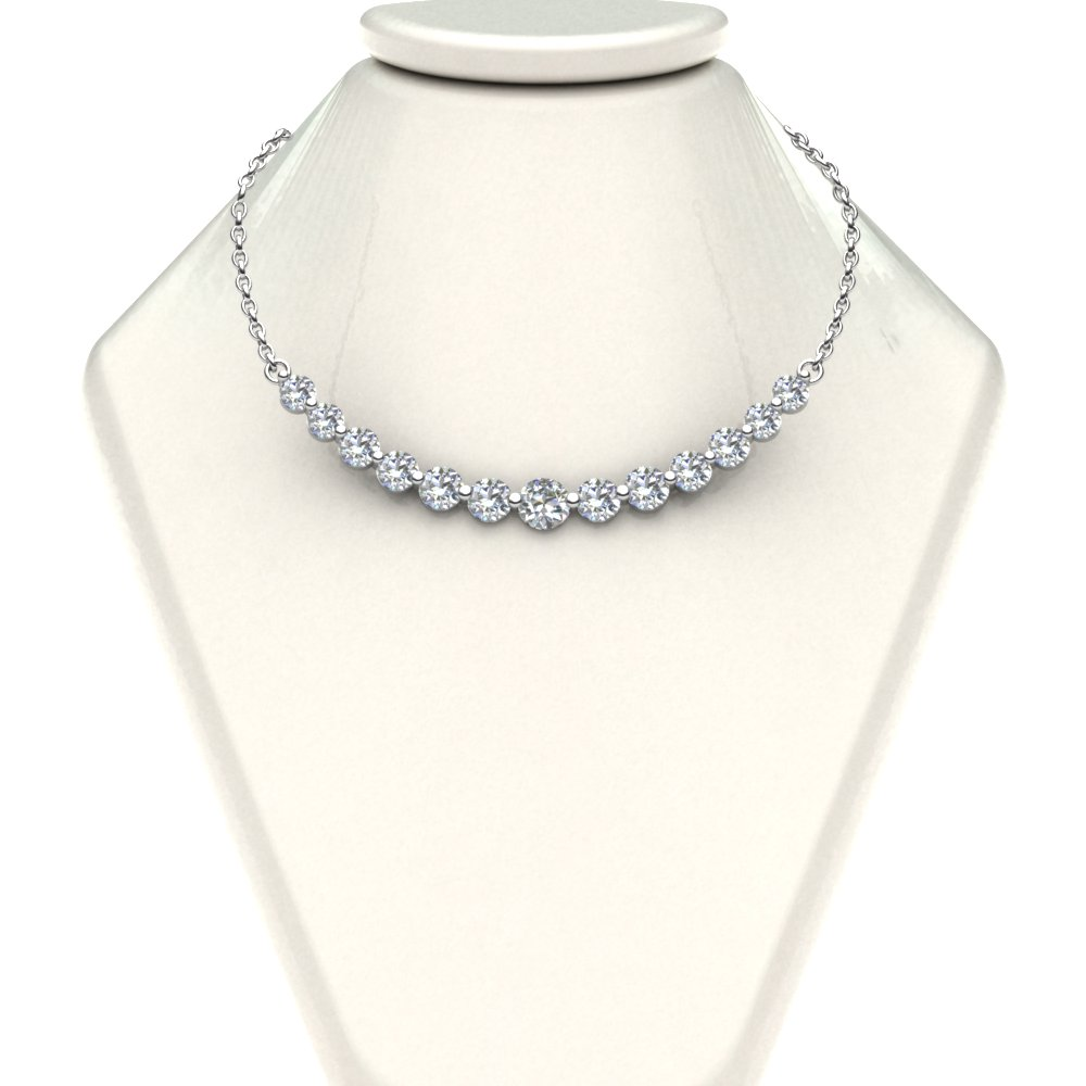stn spectacular diamond ct tennis center carats necklace graduated youtube watch
