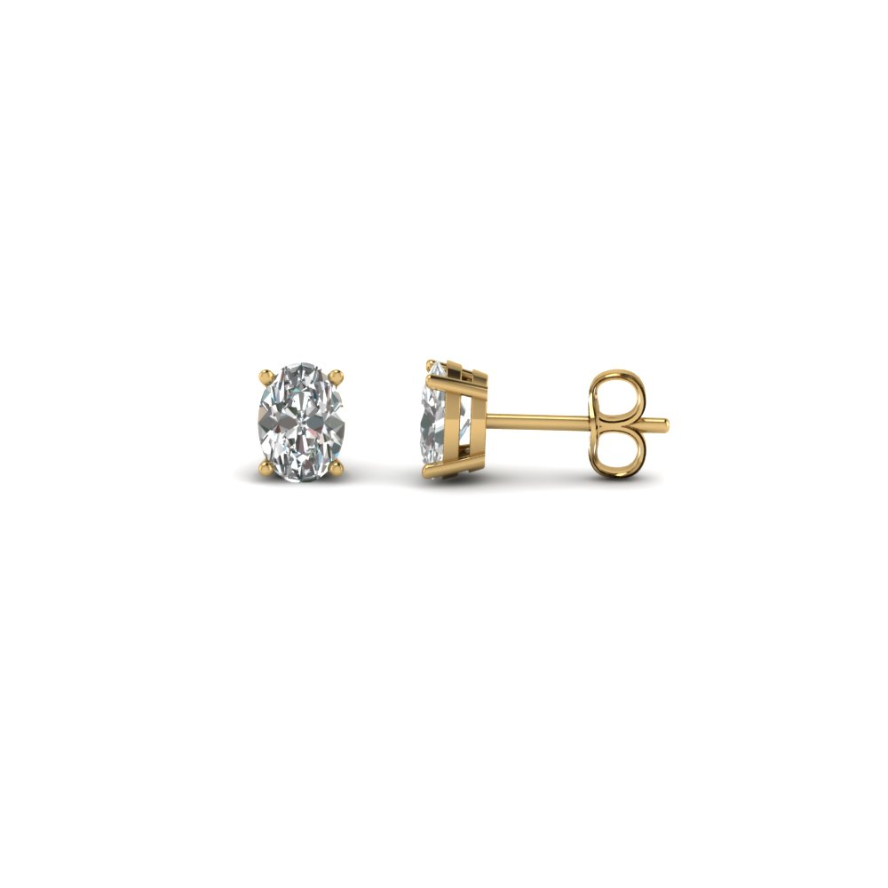 Oval Diamond Earring One Carat