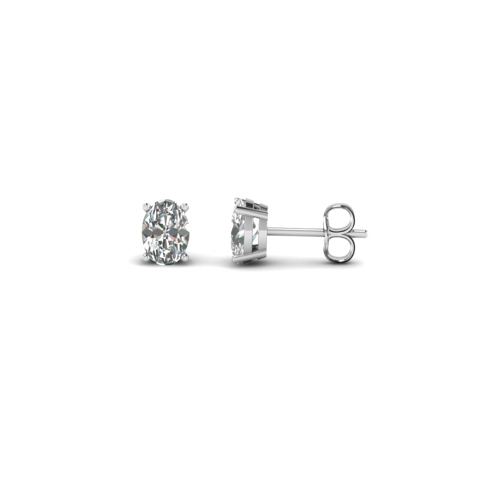 1 ct. oval shaped diamond earring for women in FDEAR4OV0.50CT NL WG