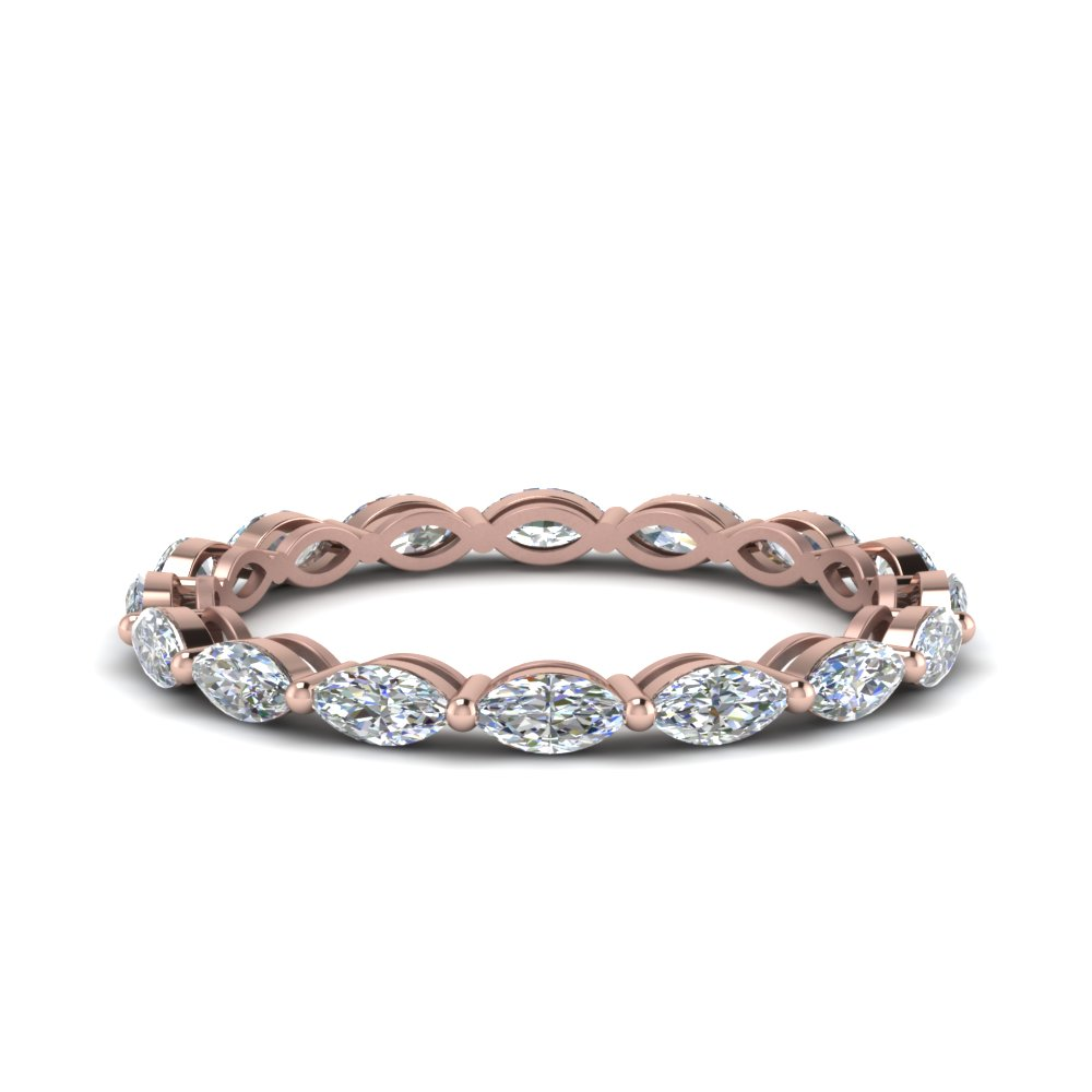 1 Carat Marquise Diamond Eternity Ring