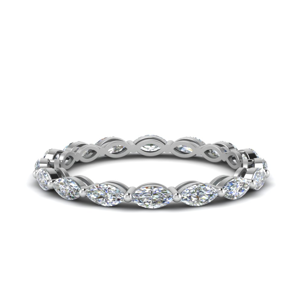 0.80 Carat Marquise Diamond Eternity Ring