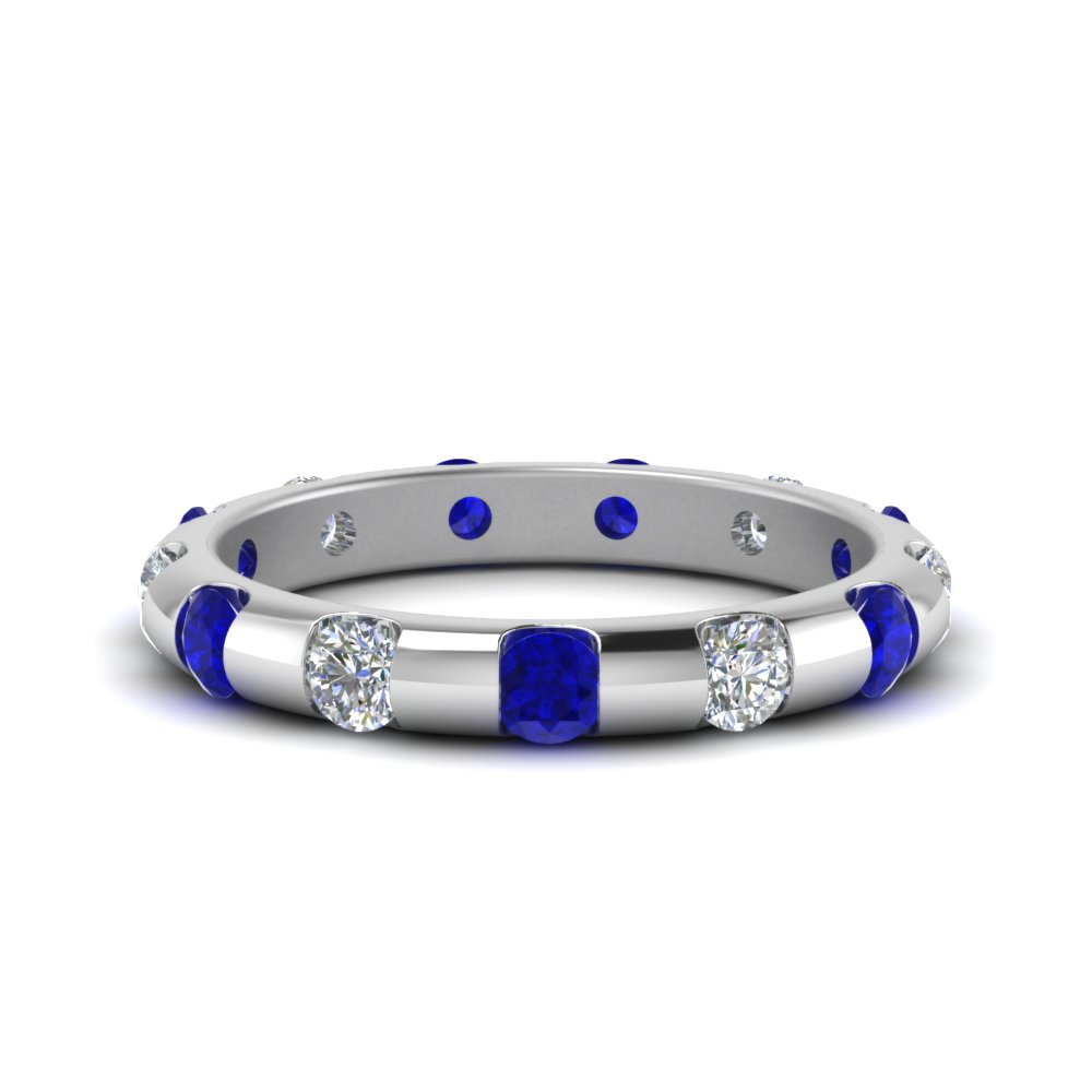 Sapphire Bar Set Eternity Band