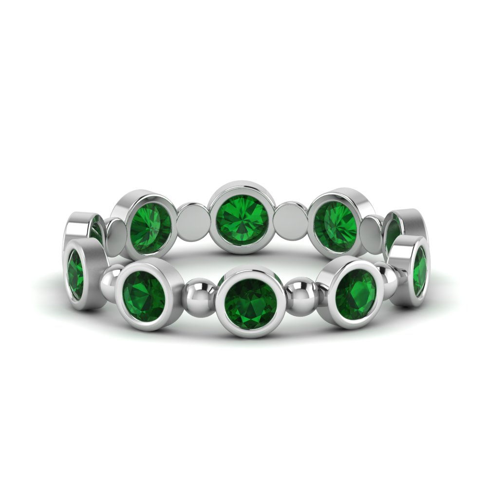 1 Ct. Bezel Set Emerald Band