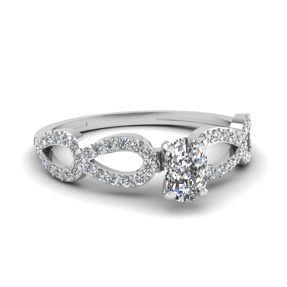 1 Carat Cushion Cut Diamond Ring For Her