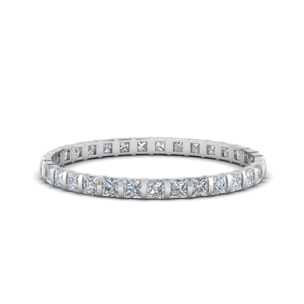 1 carat diamond delicate bar set eternity band in FD123625PREWB(1CT) NL WG