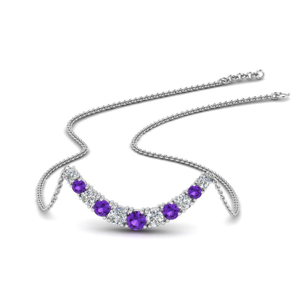 1-carat-diamond-graduated-smile-necklace-with-purple-topaz-in-FDPD9195GVITO-NL-WG