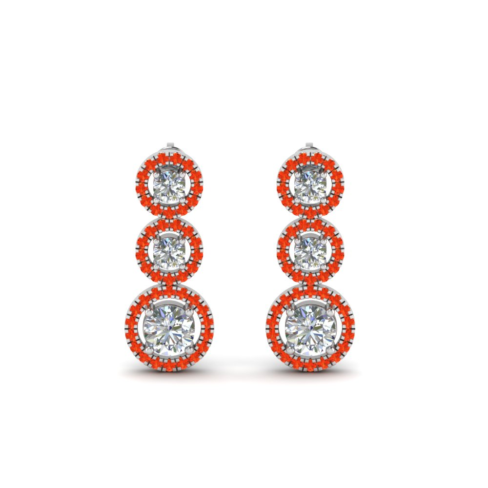 1-carat-diamond-halo-triple-drop-earring-with-orange-topaz-in-FDEAR8977GPOTOANGLE1-NL-WG