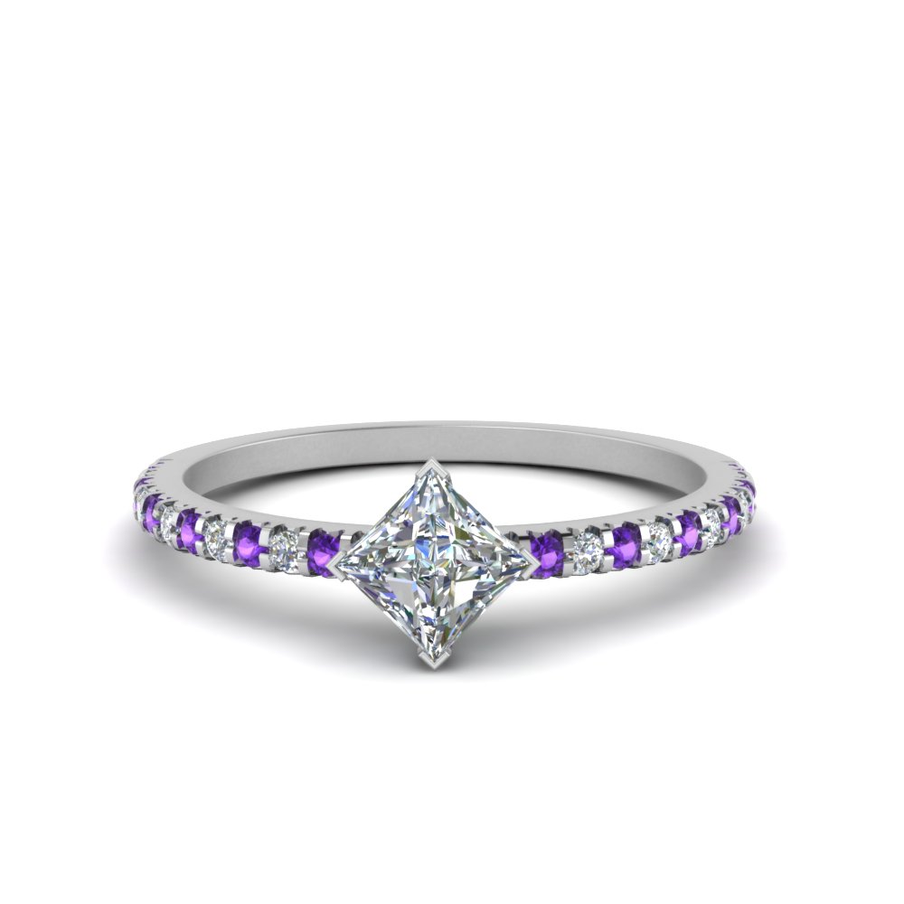 Kite Accent Engagement Ring