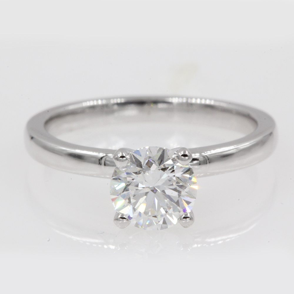 1 Carat Diamond Solitaire Ring In 14k White Gold Fascinating Diamonds