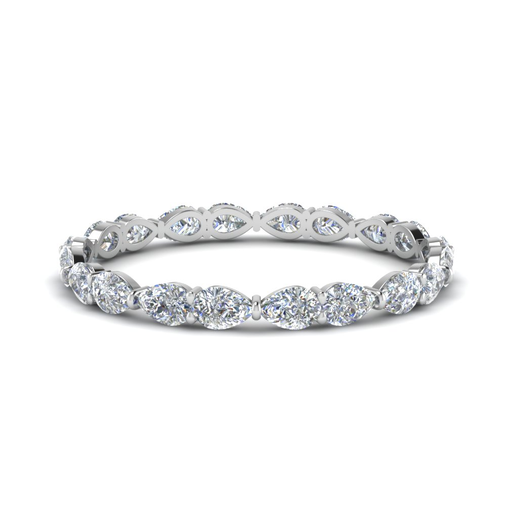 1 Ctw. Pear Diamond Eternity Band