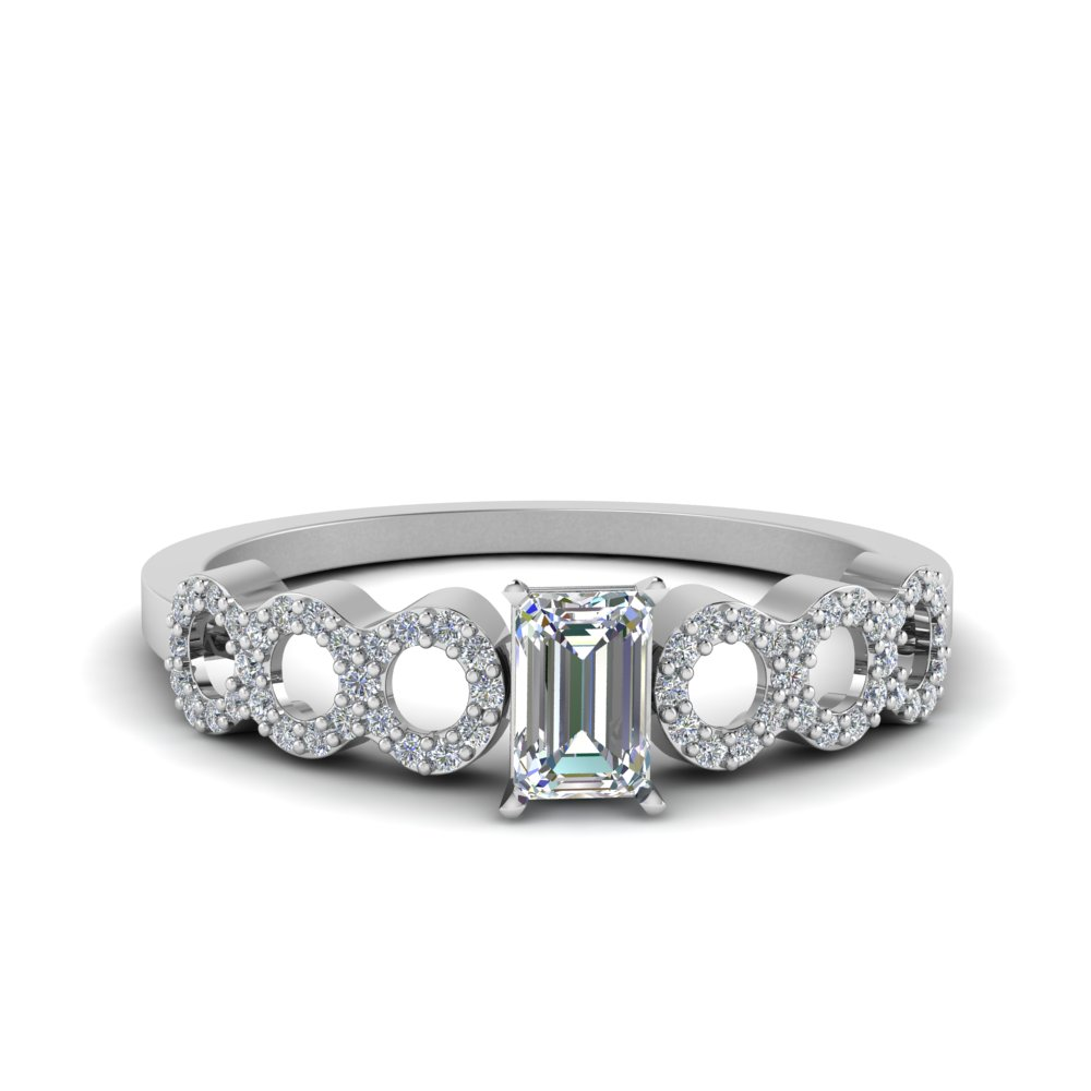 0.75 Carat Circle Design Diamond Ring