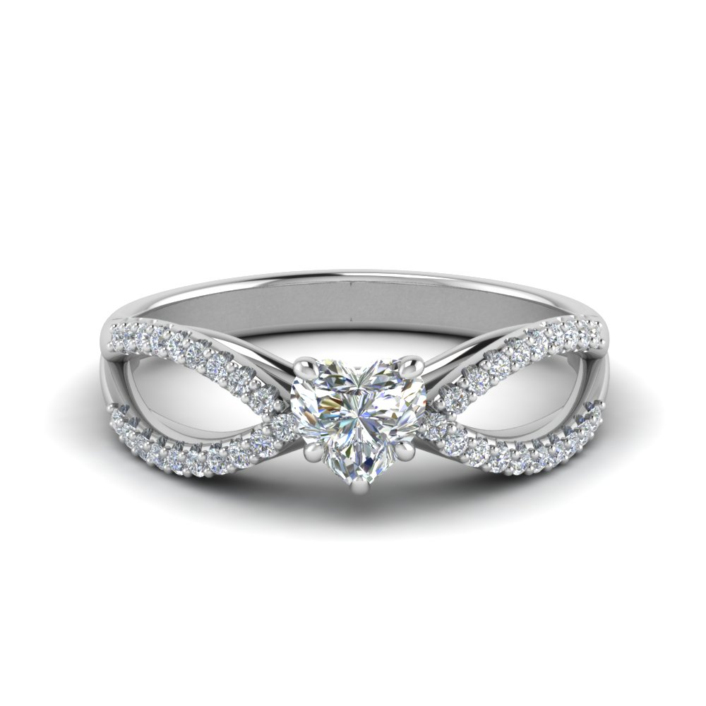 1 Carat Diamond Split Shank Ring