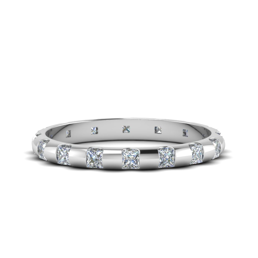 1 Carat Princess Cut Bar Eternity Band