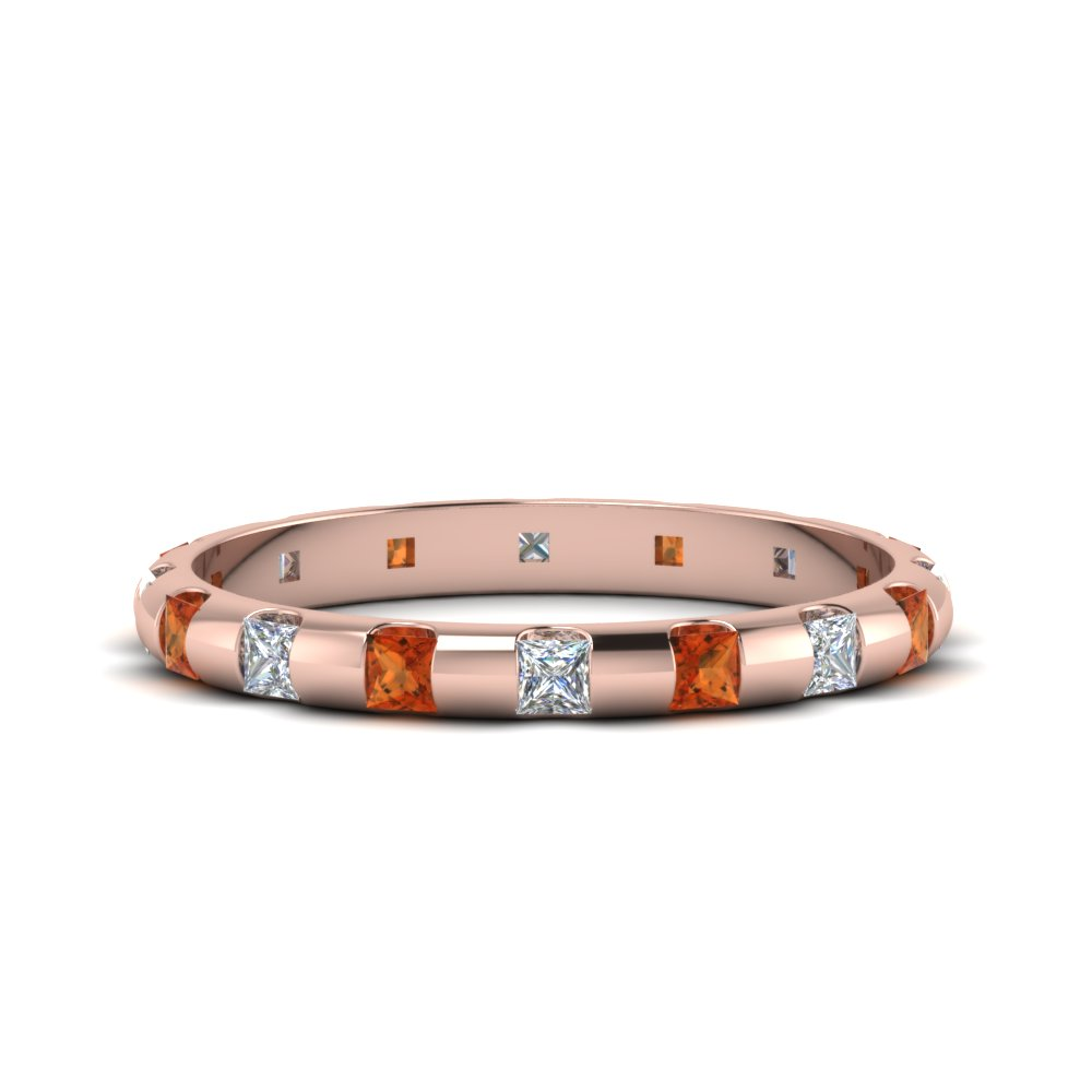 1-carat-princess-cut-bar-eternity-diamond-wedding-band-with-orange-sapphire-in-FDEWB123536PR(2.00MM)GSAOR-NL-RG