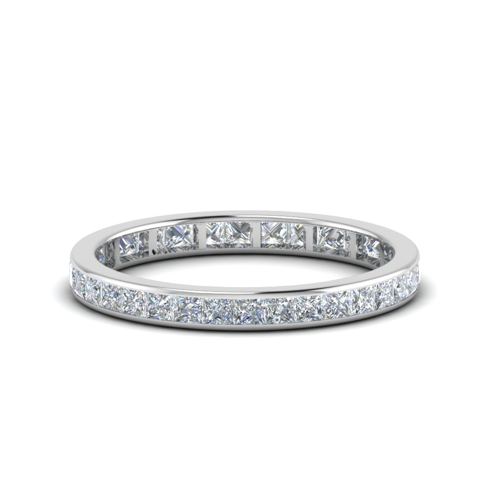 1 Carat Princess Cut Channel Band
