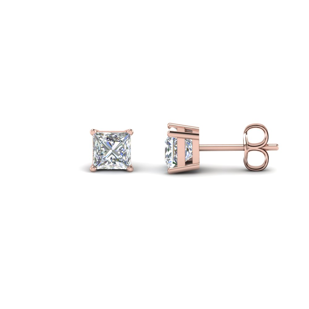 1 Carat Princess Cut Diamond Earring For Women In Fdear4pr0 50ct Nl Rg