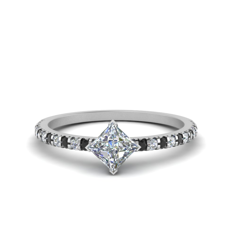 1 Carat Diamond Kite Accent Ring