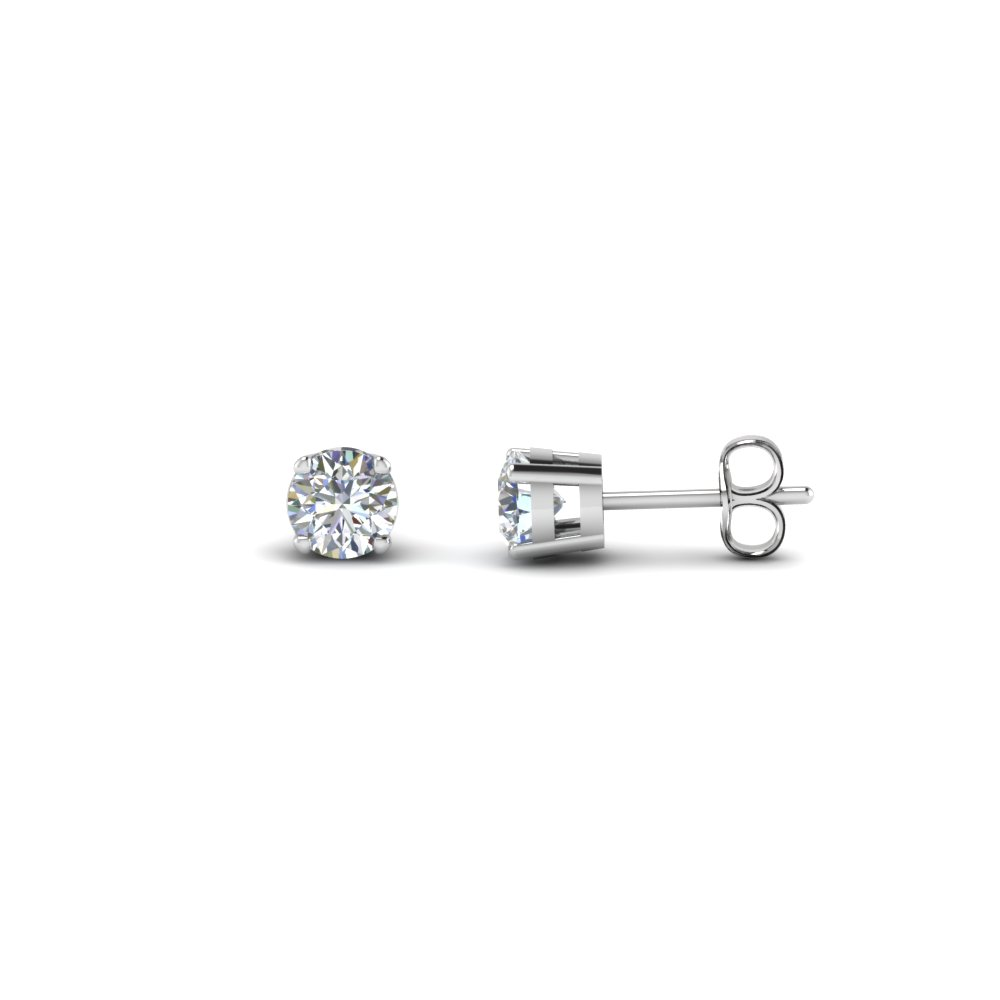earrings jewelry diamond prong carat stud jackson round a hole products collections